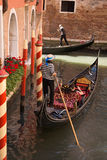 Gondola on canal in Venice, Italy Stock Photos