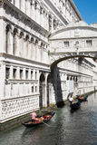 Gondola on canal in Venice, Italy Royalty Free Stock Image