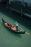 Gondola on canal in Venice, Italy Stock Image