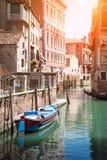 Gondola on canal in Venice, Italy Stock Photography