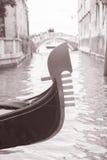 Gondola and Canal in Venice, Italy Royalty Free Stock Photo