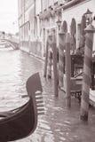 Gondola and Canal in Venice, Italy Royalty Free Stock Photos