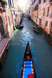 Gondola on Canal in Venice, Italy Royalty Free Stock Photos