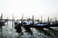 Gondola in the canal in Venice,Italy Royalty Free Stock Photos