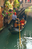Gondola in the canal in Venice,Italy Stock Images