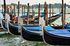 Gondola in the canal in Venice,Italy Stock Photo