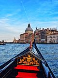 Gondola in canal, Venice, Italy royalty free stock images
