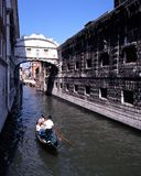 Gondola on canal, Venice. Royalty Free Stock Photos
