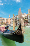 Gondola on the canals of Venice Stock Image
