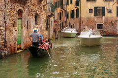 Gondola on the canals of Venice Royalty Free Stock Image