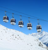 Gondola cars Royalty Free Stock Photos