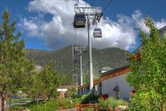 Gondola celeste HDR del lago Tahoe Fotografia Stock