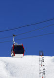 Gondola and chair-lifts at ski resort in nice day Royalty Free Stock Photo