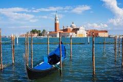 Gondola. And church of san giorgio maggiore Stock Image