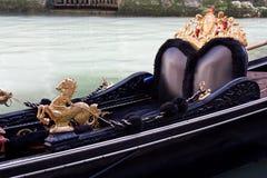 Gondola. Close-up. Close-up of main view of Gondola, symbol of Venice Royalty Free Stock Photo