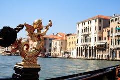 On the Gondola - Close up. A shot taken on a gondola- Venice royalty free stock image