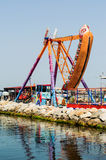 Gondola d'oscillazione su Luna Park Fotografie Stock