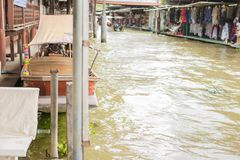 Damnoen saduak floating market Stock Photos