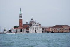 Gondola del pilastro a Venezia Fotografie Stock Libere da Diritti