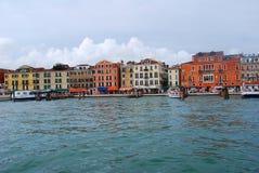 Gondola del pilastro a Venezia Immagine Stock