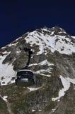 Gondola della teleferica di Skyway a Mont Blanc, alpi, Italia Immagine Stock Libera da Diritti