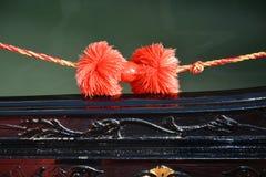 Gondola and detail, Venice, Italy Stock Image
