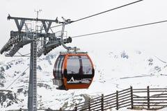 Gondola di Grossglockner Panoramabahn, Austria Fotografie Stock Libere da Diritti