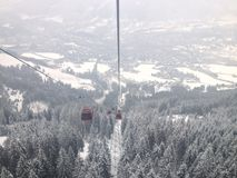 Gondola di Kitzbuhel immagine stock libera da diritti