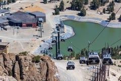 Gondola di Mammoth Mountain Immagini Stock Libere da Diritti