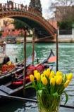 Gondola di riposo a Venezia fotografia stock libera da diritti