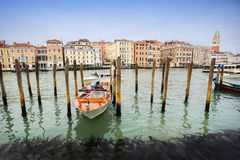 Gondola dock in Venice Stock Image
