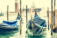 Gondola floating on the channel Royalty Free Stock Photo