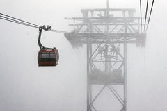Gondola in the Fog Stock Images