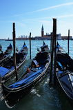 Gondola. S on Grand Canal, Venice, Italy Stock Image