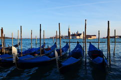 Gondola. S on Grand Canal, Venice, Italy Royalty Free Stock Photos