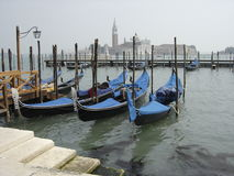 Venice. Gondolas on the Venetian canal Royalty Free Stock Photo