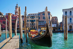 Gondola on the Grand Canal Stock Images