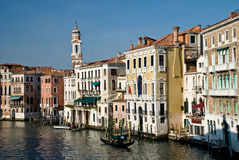 Gondola on Grand canal. Italy - Venice Stock Images