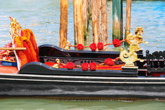 Gondola on the Grand Canal berth in Venice Stock Photography