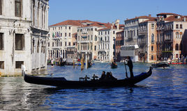 Gondola on the Grand Canal Stock Photo