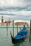 Gondola on Grand Canal in Venice. Stock Photos