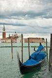 Gondola on Grand Canal in Venice. Stock Photos