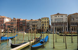 Gondola on the Grand Canal in Venice Stock Images