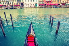 Gondola on Grand canal in Venice stock image