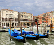 Gondola on the Grand Canal  Venice, Italy Royalty Free Stock Photography