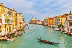 Gondola on Grand Canal Royalty Free Stock Photos