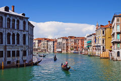 Gondola on the Grand Canal in Venice, Italy Royalty Free Stock Image