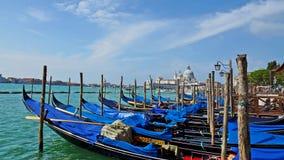 Gondola on the Grand Canal in Venice, Italy Stock Photos
