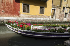 Gondola. Grand Canal and gondola in Venice, Italy Royalty Free Stock Photo