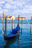 Gondola on the Grand Canal in Venice Stock Photo
